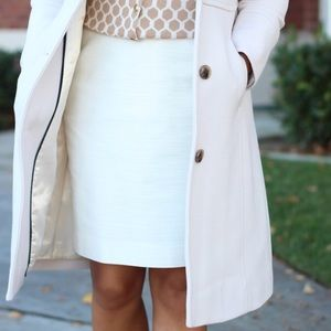 J. crew pencil skirt in Ivory - Size 6